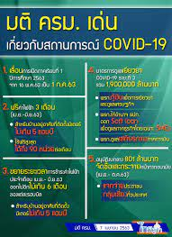 มติคณะรัฐมนตรี : เด่นเกี่ยวกับสถานการณ์ โควิด-19 (วันที่ 7 เมษายน 2563)