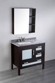 Contemporary Bath Vanity Cabinets Bosconi 37 Inch Contemporary Single Sink Vanity Medicine Cabinet