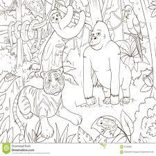 L Gant Coloriage Les Animaux De La Jungle