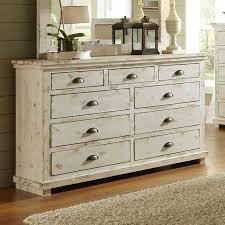 Design Willow Drawer Dresser Distressed White Progressive Furniture ...