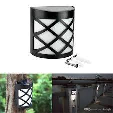 2018 6 led solar powered outdoor path light yard fence gutter post lights garden wall lamp
