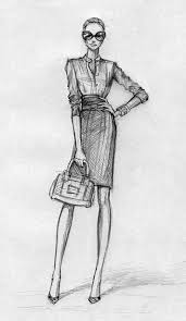 Best Fashion Design Sketches Illustrations Royalty Free Vector