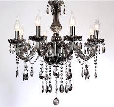 smoked glass chandelier 5 6 light led crystal chandelier modern lights smoke gray living room chandelier smoked glass chandelier