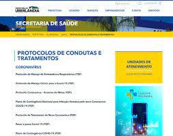 Portal da Prefeitura passa a disponibilizar protocolos de consultas e  tratamentos em saúde - Portal da Prefeitura de Uberlândia