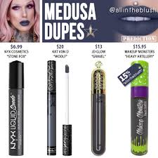 jeffree star medusa velour liquid lipstick prediction dupes code for makeup monsters included