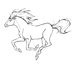 Running Horse Coloring Pages Coloringstar
