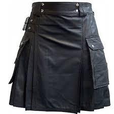 cargo leather kilt leather utility kilt leather blacksmith kilt mens leather gladiator kilt