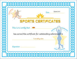 Athletic Certificate Template | Margaretcurran.org