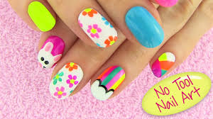 Best Diy Tools Diy Nail Art Without Any Tools 5 Nail Art Designs Diy Projects