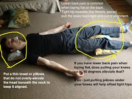 place a pillow under the knees