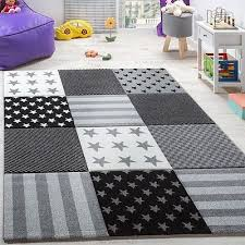 kids rug stars grey black and white nursery rug soft children bedroom carpet mat