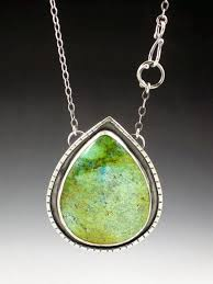 large turquoise necklace blue green