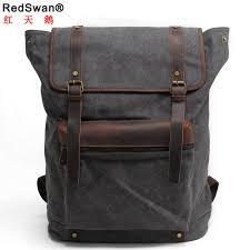 china whole uk design canvas day pack leather shool backpack student shoulder satchel rs 2200 p china satchel bag shoulder bag