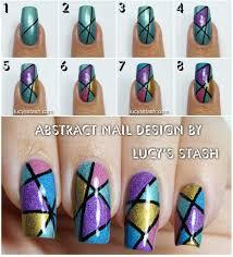 Abstract Holo Nail Art Design with Tutorial | Nailart | Tutorials ...