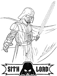 Small Picture Darth Vader is so Angry in Star Wars Coloring Page Download