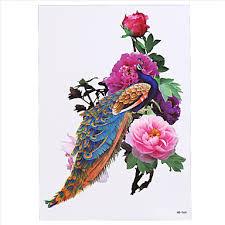 639 8ks Orientální Tradiční ženy Muži Dočasné Tělo Rameno Pouzdro Art Tatoo Fénix Tetování Nálepka Designu Krása Sexy Make Up
