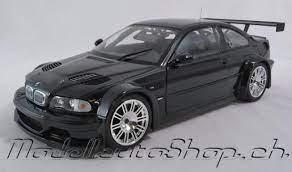 Modellauto Shop Bmw M3 E46 Gtr Street Schwarz 1 18 Online Kaufen