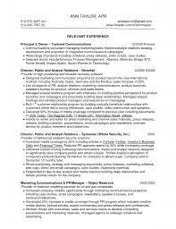 Public Relations Resume Skills Public Relations Executive Resume