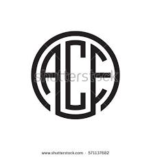 stock vector initial three letter logo circle black
