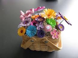 Paper Quilling Flower Baskets Paper Quilling Flower Basket Designs Flowers Healthy