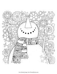 Children making snowman coloring page. Snowman Coloring Page Free Printable Pdf From Primarygames
