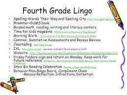 Fourth Grade Behavior Chart Welcome On Your Childs Desk Is A Letter Written To You