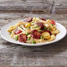 hillshire farm sausage alfredo recipe main dishes with smoked sausage pasta heavy cream cajun seasoning grated parmesan cheese