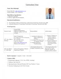 Fresher Lecturer Resume Sample Lecturer Resume Format For Computer Science Study Sample Chic 1