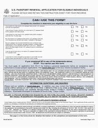 Passport Renewal Application Form