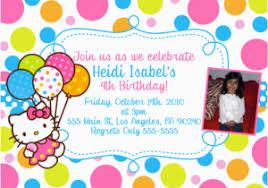 Hello Kitty First Birthday Invitations Hello Kitty Party Invitations