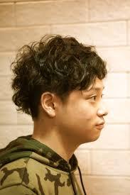 ふんわり前髪メンズパーマの人気ヘアスタイルおしゃれな髪型画像