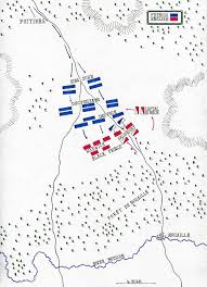 battle of poitiers battle of poitiers on 19th 1356 in the hundred years map by john fawkes