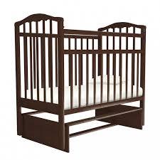 Кроватка детская Золушка-3 вишня Агат, цвет бордовый ...