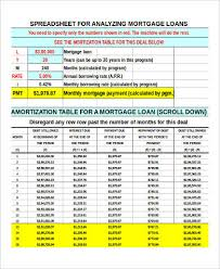 loan amortizing sample loan amortization spreadsheet 6 examples in word pdf excel