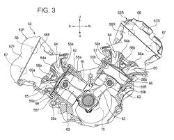 Reverse cooled v4 from honda that they dropped off at the patent office water pump drives off of the cam shaft