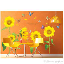 new wall stickers wall sunflower wall sticker decorations for home decoration room decoration fashion stickers arts nature pictures decals for home