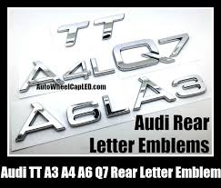 car letter decals audi a3 a4 a4l a6 a6l a8l q5 q7 tt rear trunk letter emblems badges