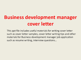 Brilliant Ideas Of Business Development Job Cover Letter For Your