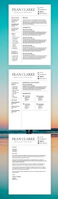 Creative Resume Template For Word 1 2 Page Resume Template And