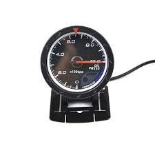 "<b>2.5</b>"" <b>60MM</b> Oil Pressure Gauge <b>Black</b> Face With Logo/Car Gauge ..."