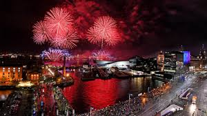 Liverpool Waterfront Lights Up As River Of Light Fireworks Get Underway