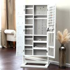 free standing jewelry armoire with mirror best mirrored jewelry design for home decoration floor mirror jewelry
