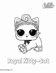 Free Lol Surprise Doll Coloring Pages Royal Kitty Cat Get Coloring