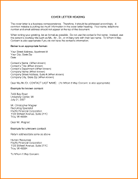 Heading Of A Cover Letter 11 12 Cover Letter Formatting Example Elainegalindo Com