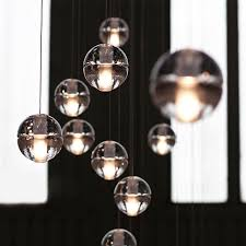 details about cer pendant modern g4 led bubble crystal ball ceiling light warm white