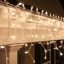 Twinkle Icicle Led Lights Clear Twinkle Icicle Lights White Wire