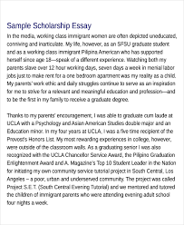 scholarship essay samples scholarship application