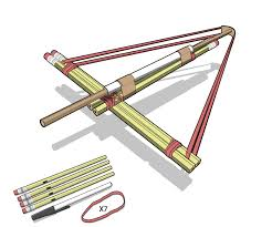 how crossbow works how to build a pencil crossbow pencil crossbow crossbow and