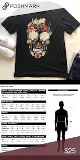 Zara Man Floral Skull Graphic T Shirt Zara Man Floral Skull