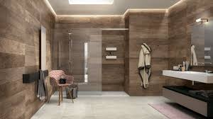 wood wall decoration for modern bathroom with glass door ideas and white floor tiles design also using latest chairs decorating